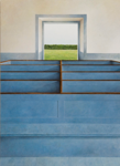 Blue Bench, 2012,              110 x 80 cm, acrylic on panel