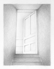 Top of the Stairs, 2015, 34 x 26 cm, graphite on Stonehenge paper