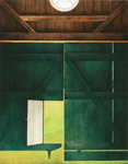 Ware Hill [Munden's Barn] 2009, 127 x 98 cm, acrylic on panel