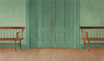 Town Hall, 2003, 72 x 126 cm, acrylic on panel